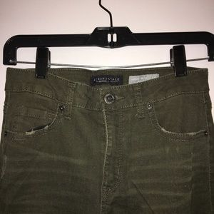 Women's High Rise Olive Jean